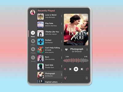 Music Player learner figma dailyui ux ui design