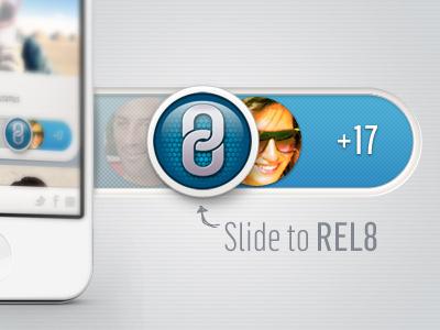 REL8 iphone app slider social feed illuminate