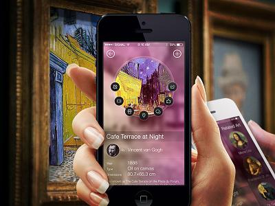 Pop Art art ios7 iphone app scan circle related details mobile ux design ui