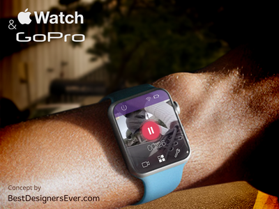 Apple Watch concept for GoPro App. iwatch smart apple watch concept gopro app