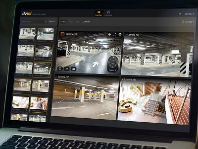 Dvtel layout control thumbnails dark flat ptz surveillance camera video