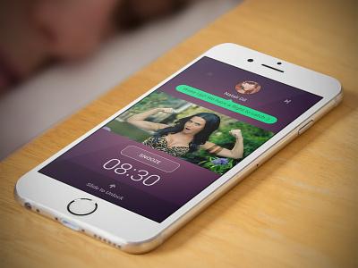 Wakeapp music player gestures social clock alarm