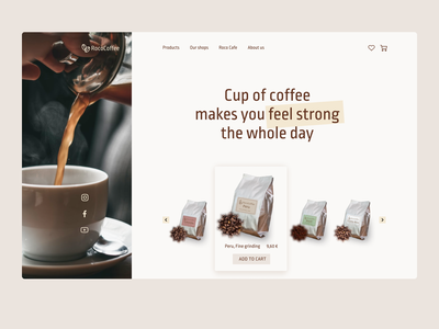 Coffee. Online store web design online shop coffee bean coffee