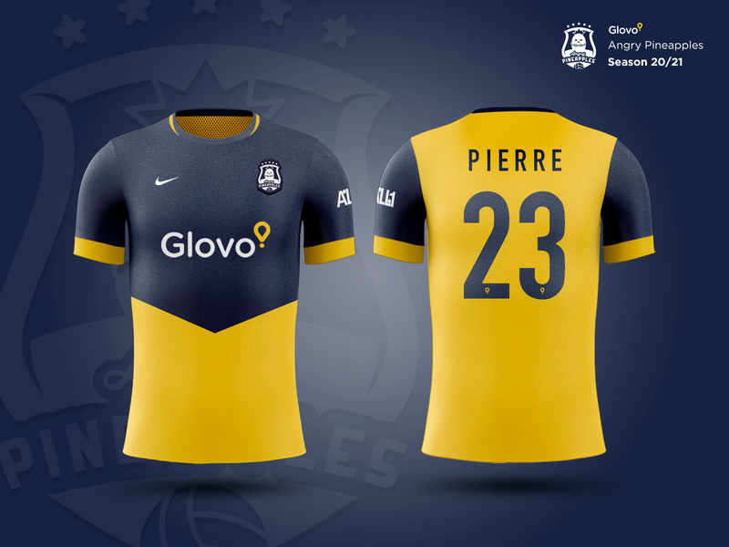 Glovo Angry Pineapples / Jersey Kit 20-21 futbol app jersey glovo soccer football