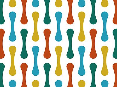 Chromosome fluid simple geometric pattern