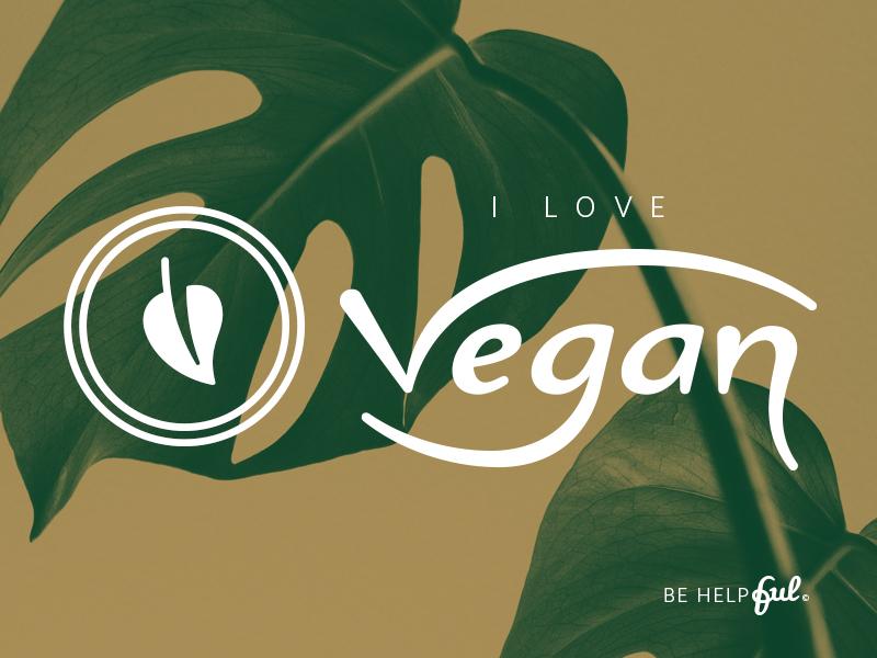i love vegan universal vegan symbol lettering by diogo trindade