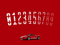 GT 40 Stencil Ultra Condensed [Numbers]