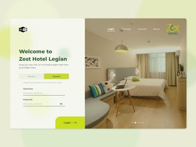 Wifi Login Pop-up Page for Budget Hotel hotelweb desktop user interface website webdesign wifi