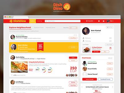 Home Food Social Network dishdino homepage visual design ux user experience ui network social food home