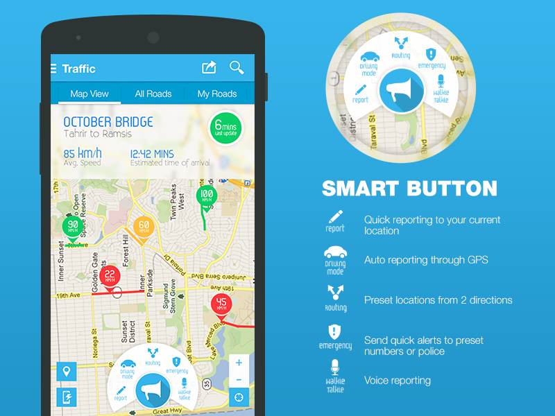 Traffic Navigation App maps ux userexperience wasalny user interface interface ui navigation traffic