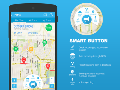 Traffic Navigation App maps ux userexperience wasalny user interface interface ui navigation traffic