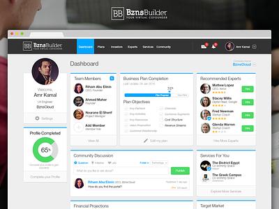 BznsBuilder Dashboard product web bznsbuilder visual design user interface ux dashboard