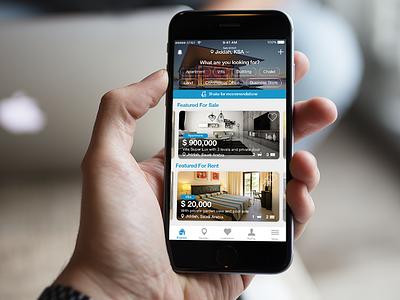 Property App Homescreen images ios9 homescreen homepage property ux ui mobileapp ios
