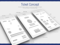 Tickets Concept Wireframe