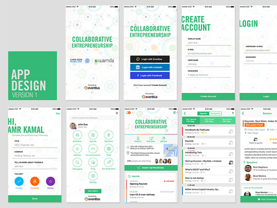 Collective App Screens visual design user interface entertainment navigation ixd userexperience ux ui mobileapp mobile