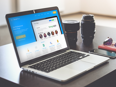 Landing Page visual design user interface dashboard businessplan tool productivity ux ui