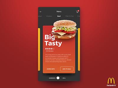McDonald's Sandwich View design cards visual food burger ux ordering ui mcdonalds