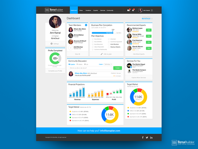 BznsBuilder Dashboard visual design infographic user interface interface user experience ux dashboard