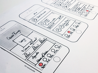 Paper Sketch mobile sketch userexperience ux sketching wireframing paper sketch