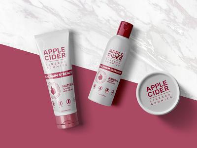 Apple Cosmetic Product Mockup cream skincare design psd mockup product cosmetic apple red