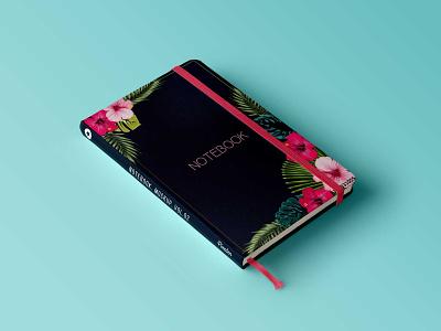 Diary Presentation Mockup floral diary graphic design notebook premium book presentation book diary design mockup