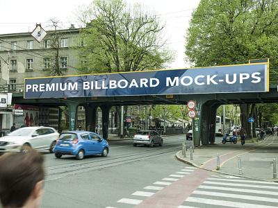 Premium Billboard Mockup ui logo illustration branding web design psd download premium best new free mockup billboard