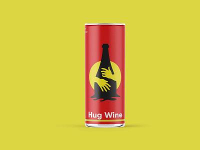 Hug Wine Can Mockup ui logo illustration branding web psd design free download mockup bottle can wine