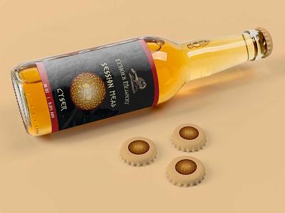 Trade Beer Bottle Mockup premium clean best ui logo illustration branding web design free download psd mockup trade bottle beer