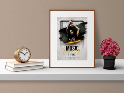 Business Frame Mockup ui logo illustration branding web design download psd mockup hanging wall clean latest free beautiful frame