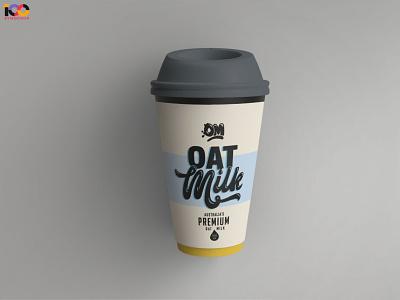 Oat Milk Paper Cup Mockup latest premium new ui logo illustration branding web design free download psd mockup paper cup paper oat milk mug cup
