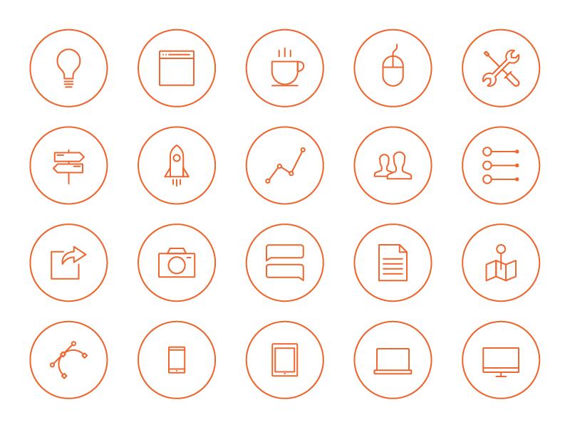 Circle Icons icons iphone line outline stroke laicos ios 7 tab bar ui ux