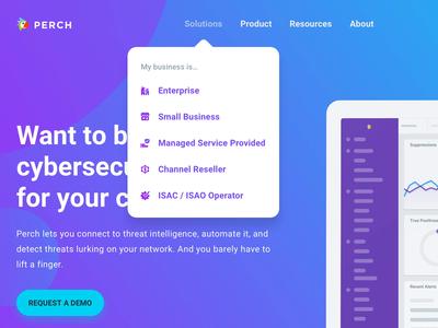 Perch Website Navigation