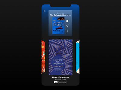 E-book App Concept dark ui concept discover book cover reading app book app kafka reading recommendation ebook book ios figma application ui mobile app