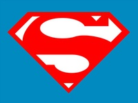 Flat Superman Logo using only CSS and HTML
