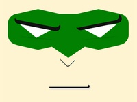 Green Lantern Face with CSS/HTML Only