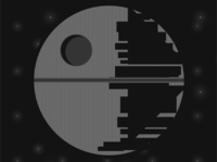 Star Wars Death Star in HTML/CSS only