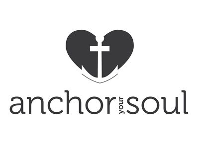 Vertical Black And White Logo - Anchor Your Soul