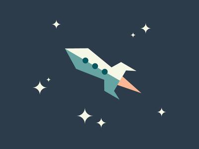 Rocket illustration vector space spacecraft rocket stars