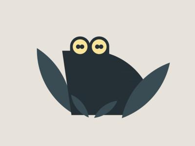 Croak dark toad amphibian croaking croak vector frog