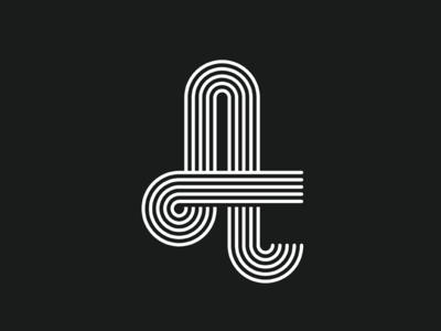 Optical A alessio monogram logo identity optical a