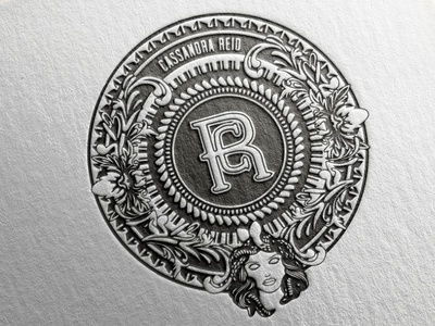 embossed paper logo by cassandra reid dribbble