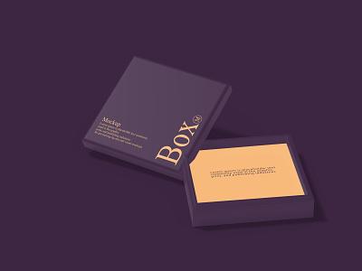 Box Square Mockup design branding