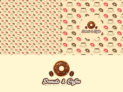 Donuts & Coffee Logo Design dribbble logoinspiration logodesign coffee donuts logodesigners adobe illustrator dribbblers branding logo graphic design