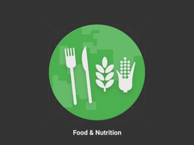 Food and Nutrition - Material Design Icon icon green fats carbs knife fork materialize google material nutrition food