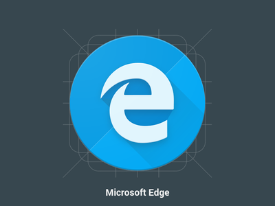 Microsoft Edge - Redesign - Material Design Icon pack android ios pink material google icon materialized microsoft materialize microsoftedge windows10 windows