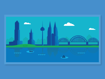 Cologne Cathedral - Material Design Illustration/Scenery