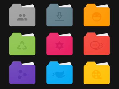 Material Design Folders - Freebie