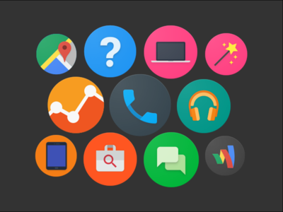 Material Design Icons Set - Website Icons