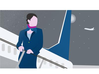 Air Hostess - مضيفات الهواء - Illustration