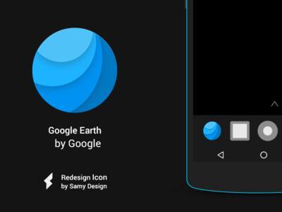 Google Earth - Redesign - Material Design Icon